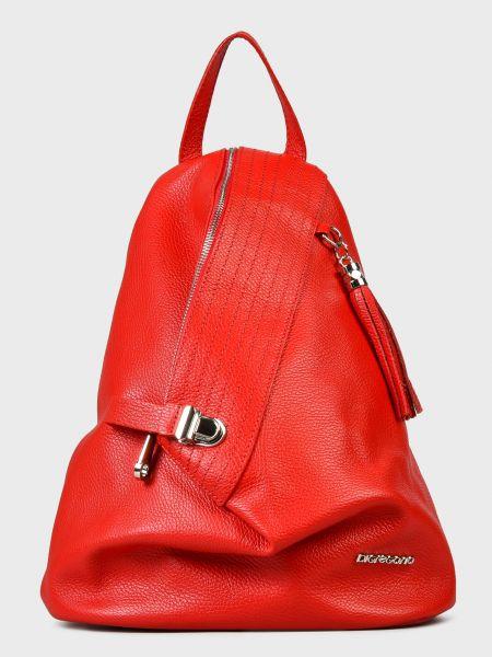 Кожаный рюкзак - красный Di Gregorio