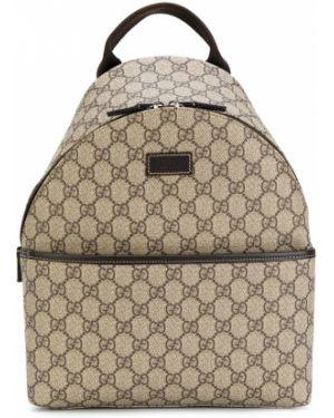 Коричневый кожаный рюкзак Gucci Kids