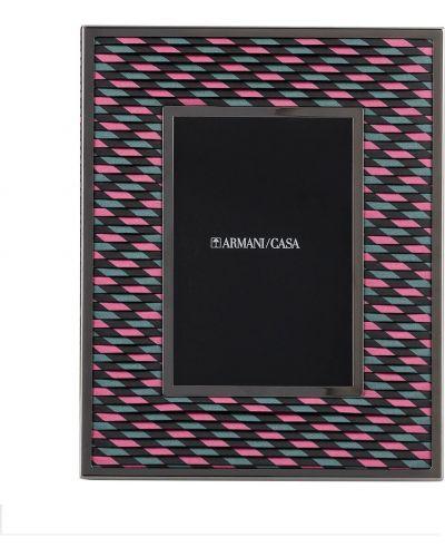 Różowa oprawka do okularów Armani/casa