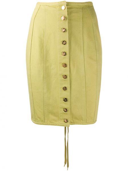 Джинсовая юбка на пуговицах карандаш Jean Paul Gaultier Pre-owned