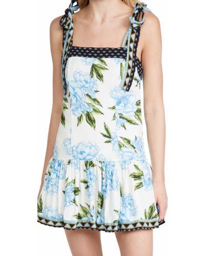 Синее платье с подкладкой в цветочный принт Agua Bendita