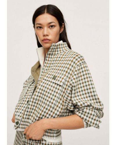 Зеленый пиджак осенний Mango