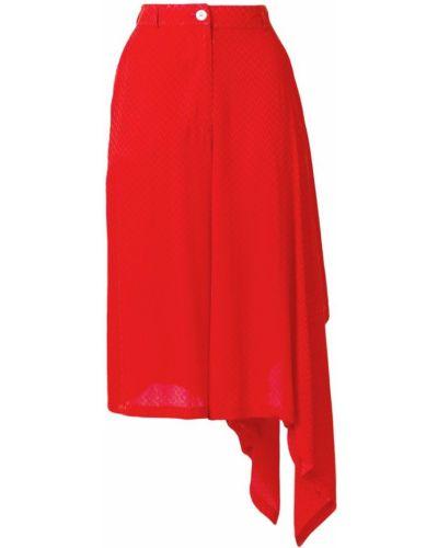 Юбка асимметричного кроя - красная Marios