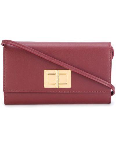 Красный кожаный кошелек Tom Ford