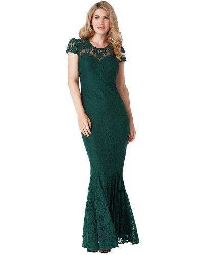 Облегающее зеленое вечернее платье с подкладкой Goddiva