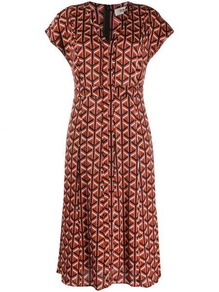 Sukienka midi mini z dekoltem w serek Dvf Diane Von Furstenberg