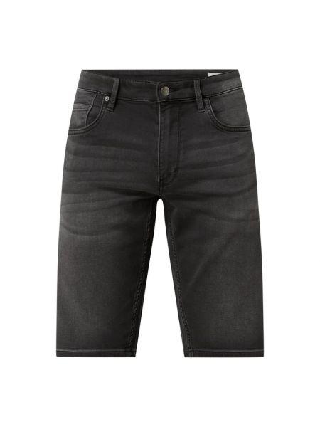 Czarne bermudy jeansowe bawełniane S.oliver Red Label