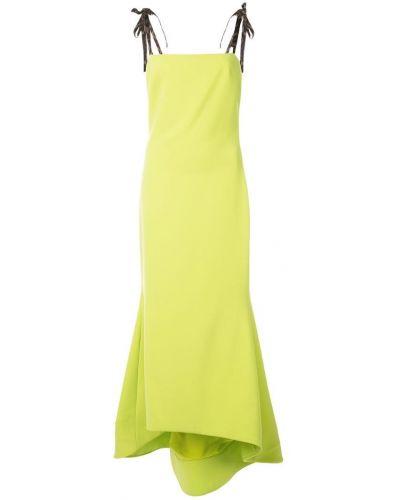 Облегающее платье макси - зеленое Christian Siriano