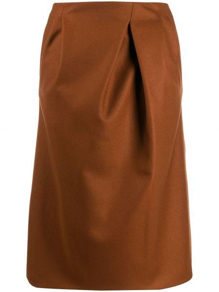 Юбка миди коричневый пачка Rochas