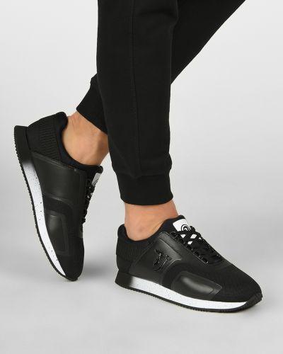 Кожаные кроссовки - черные Trussardi Jeans