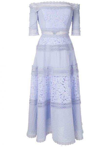Платье миди на молнии с рукавами Martha Medeiros
