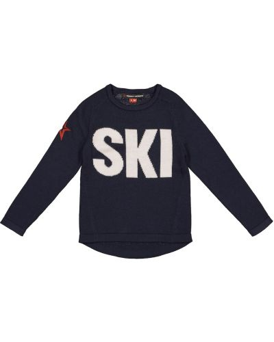Miejski niebieski wełniany sweter Perfect Moment Kids