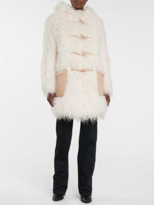 Белое пальто классическое Saint Laurent