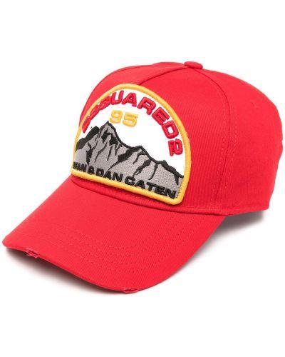 Baseball bawełna bawełna czapka z daszkiem z haftem Dsquared2