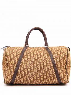 Beżowa złota torebka Christian Dior