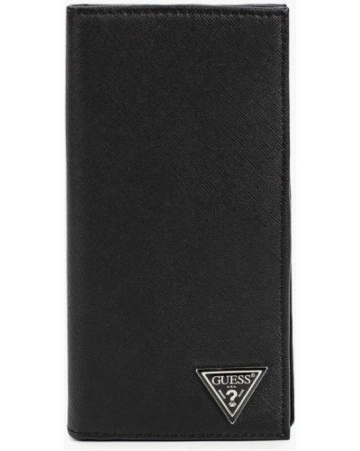 Кожаный портмоне - черный Guess