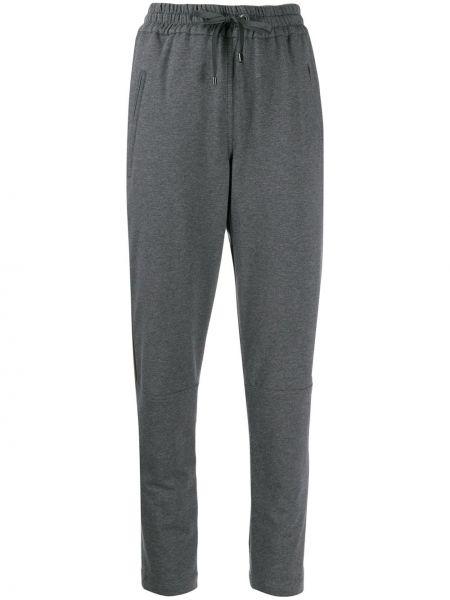 Спортивные брюки укороченные серые Brunello Cucinelli