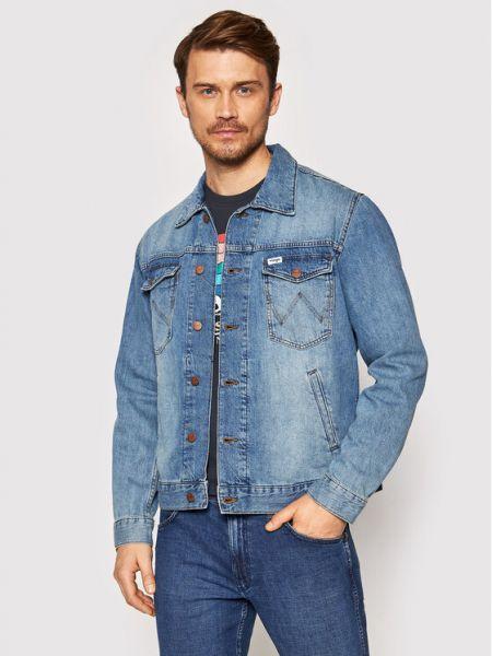 Kurtka jeansowa - niebieska Wrangler