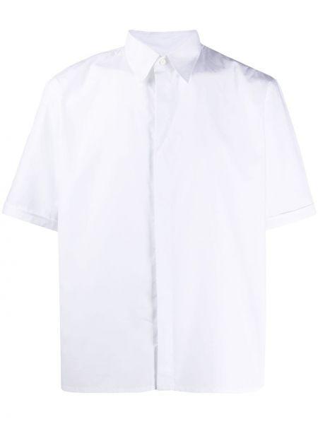 Koszula krótkie z krótkim rękawem z logo prosto Fendi