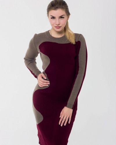 Платье осеннее красный наталка