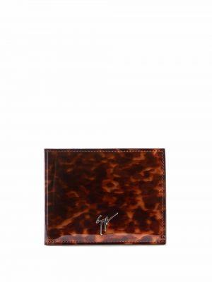 Portfel skórzany - brązowy Giuseppe Zanotti