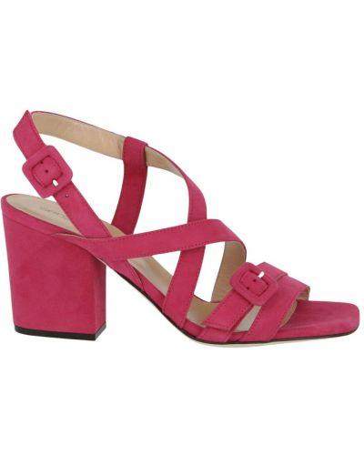 Różowe sandały na obcasie Sergio Rossi