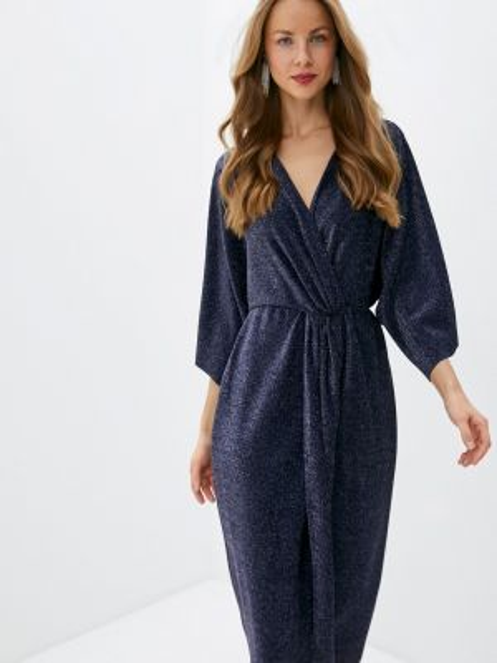 Синее вечернее платье Sultanna Frantsuzova
