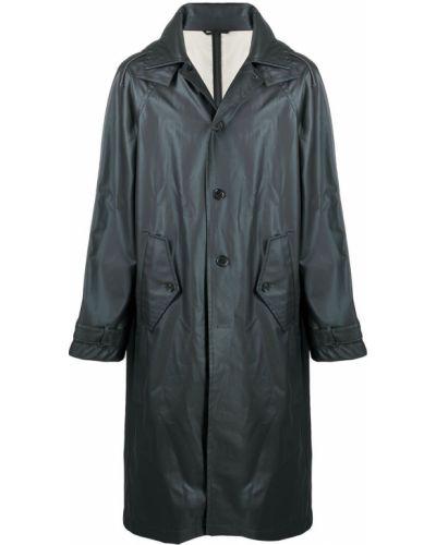 Czarny płaszcz przeciwdeszczowy z kapturem z długimi rękawami Filippa K