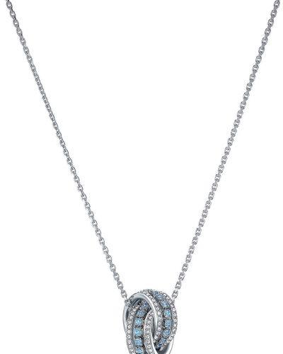 Серебряный медальон с подвесками с декоративной отделкой Swarovski