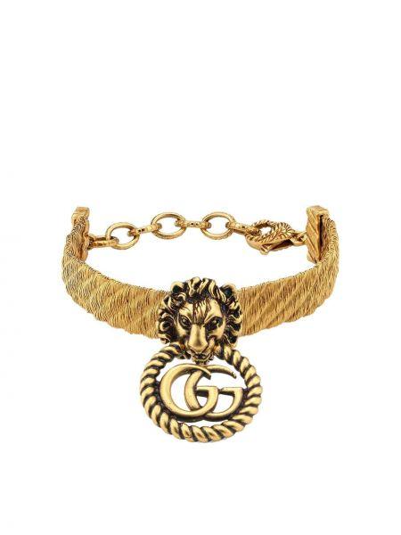 Bransoletka ze złota metal złoto Gucci