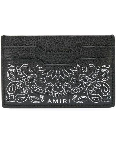 Черный кожаный картхолдер Amiri