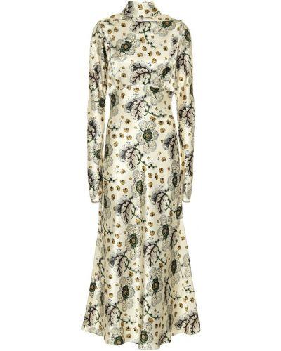 Вечернее платье макси с цветочным принтом Etro