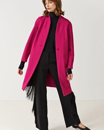 Утепленная куртка на пуговицах розовая Simple