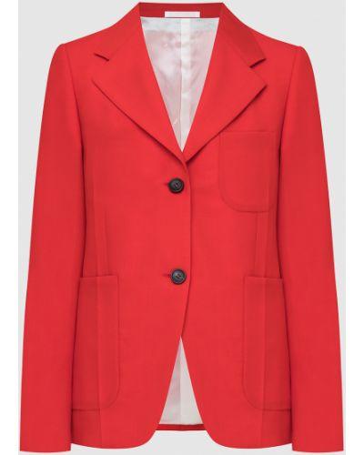 Шерстяной красный пиджак Lanvin