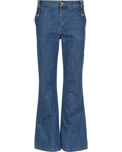 Хлопковые джинсы - синие See By Chloé
