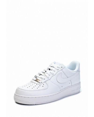 Белые высокие кеды Nike