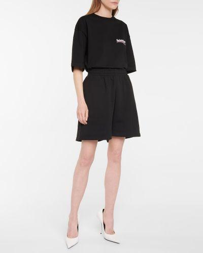 Czarne szorty bawełniane Balenciaga