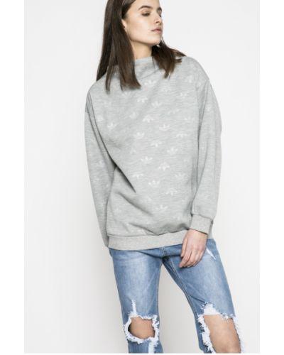 Серая кофта с капюшоном Adidas Originals