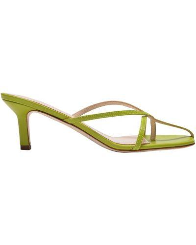 Zielone sandały na obcasie Elleme