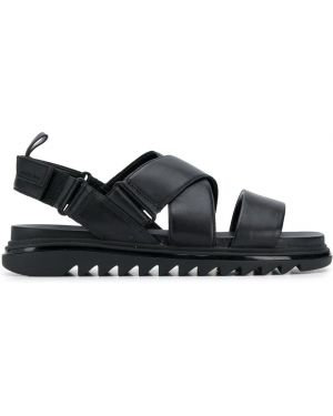Czarne sandały skorzane peep toe Michael Michael Kors