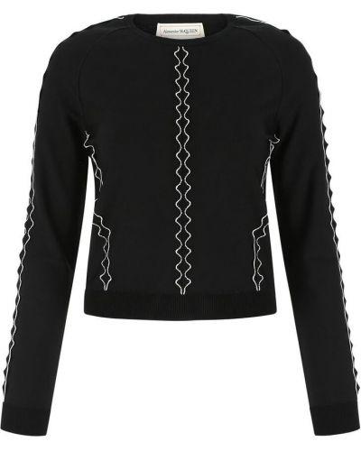 Bluzka casual - czarna Alexander Mcqueen