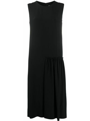 Шелковое черное платье без рукавов Salvatore Ferragamo