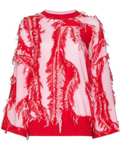 Розовый джемпер с бахромой I-am-chen