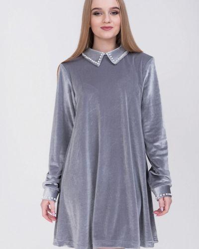 Платье весеннее серое Bluzka