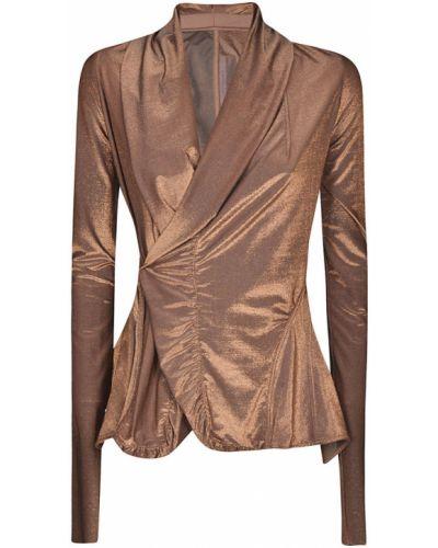 Złota kurtka z długimi rękawami Rick Owens