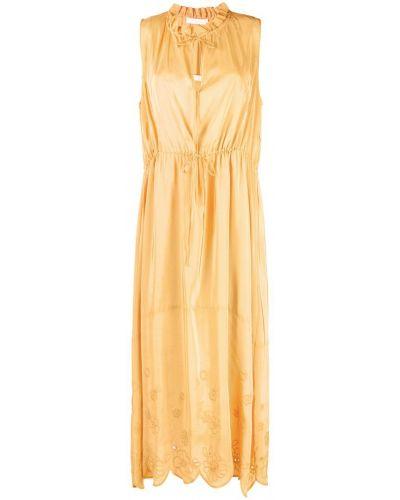 Платье макси с вышивкой хлопковое See By Chloé