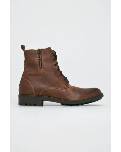 Ботинки на шнуровке кожаные высокие Gino Rossi