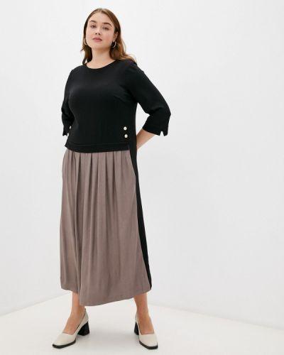 Платье-футболка - черное Lina