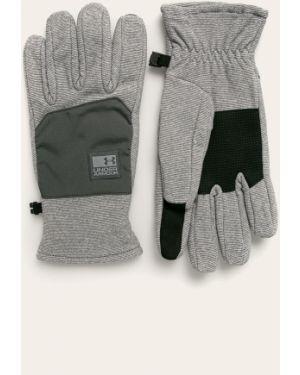 Szare ciepłe rękawiczki z nylonu Under Armour