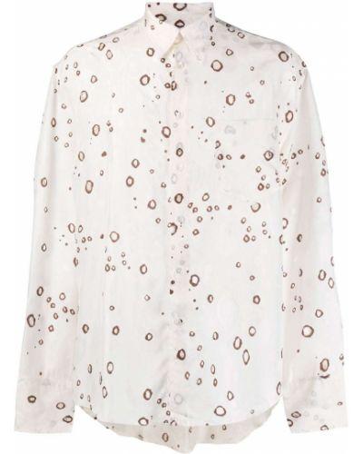 Рубашка с воротником на пуговицах с карманами с длинными рукавами Cmmn Swdn